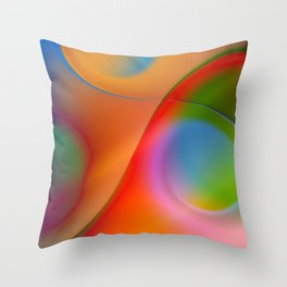 a towel full of colors Throw Pillow