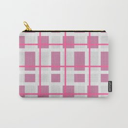 Retro Pink Plaid Pattern Carry-All Pouch