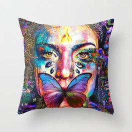 She was silenced Throw Pillow