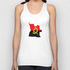 Angola flag map Unisex Tank Top