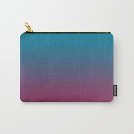 Pantone Barrier Reef 17-4530 and Vivacious Red 19-2045 Ombre Gradient Blend Carry-All Pouch