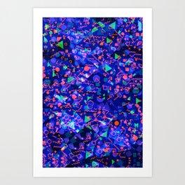 Abstract modern Memphis design Art Print