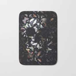 Butterfly And Skull Bath Mat