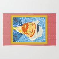 van gogh Area & Throw Rugs featuring Selfie Van Gogh by Alapapaju