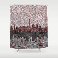 paris Shower Curtains featuring Paris by Bekim ART