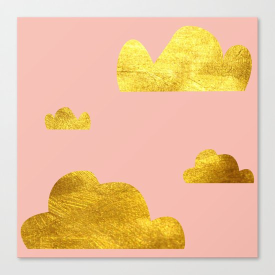Gold Clouds Canvas Print