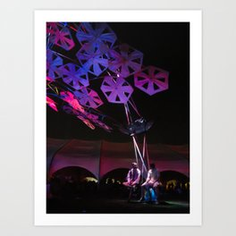 purple paper ponder Art Print
