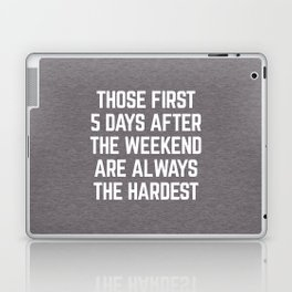 After The Weekend Funny Quote Laptop & iPad Skin