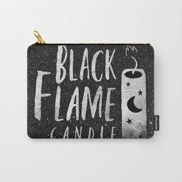 BLACK FLAME CANDLE Carry-All Pouch