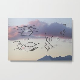 Smoking Mountain  Metal Print