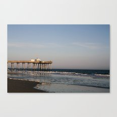 Lone fisher Canvas Print