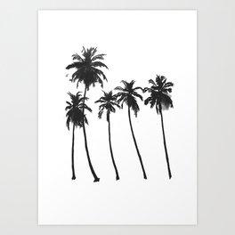 Five Palms Art Print