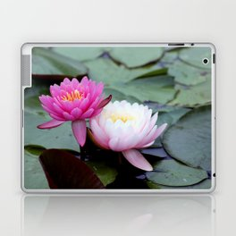 Pink Water Lily Duo #1 Laptop & iPad Skin