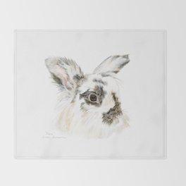 Pixie the Lionhead Rabbit by Teresa Thompson Throw Blanket