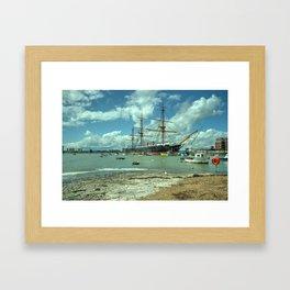 HMS Warrior at Portsmouth Harbour Framed Art Print