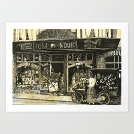 Nook's Grocery and C. Redd's Mobile Art Emporium Art Print