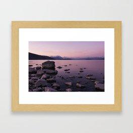 Lake Tekapo Sunset Framed Art Print