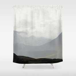 Rannoch Moor - mists and mountains Shower Curtain