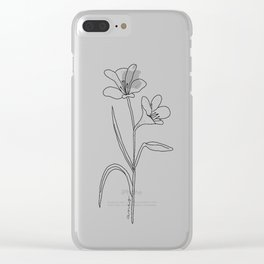 Amancay - Patagonian wildflower Clear iPhone Case