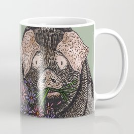 Pig with Flowers Coffee Mug