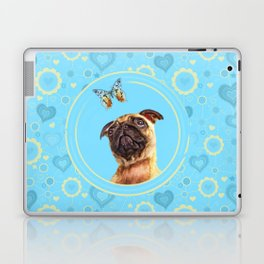 Cute Pug puppy and Butterfly Laptop & iPad Skin