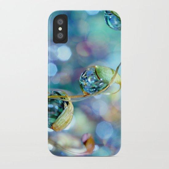 Rainbow Moss Drops iPhone Case