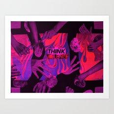 THINK VIOLENCE  Art Print