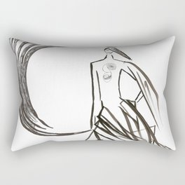 Angel under cover (home photo) Rectangular Pillow