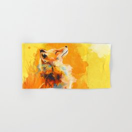Blissful Light - Fox portrait Hand & Bath Towel