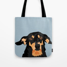 Black and Tan Dachshund Tote Bag