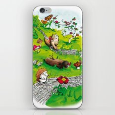 Animals wood iPhone & iPod Skin