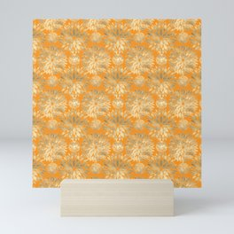 Golden Chrysanthemum flowers Mini Art Print