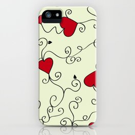 Valentine's Day Red Hearts iPhone Case