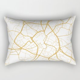 BIRMINGHAM ENGLAND CITY STREET MAP ART Rectangular Pillow