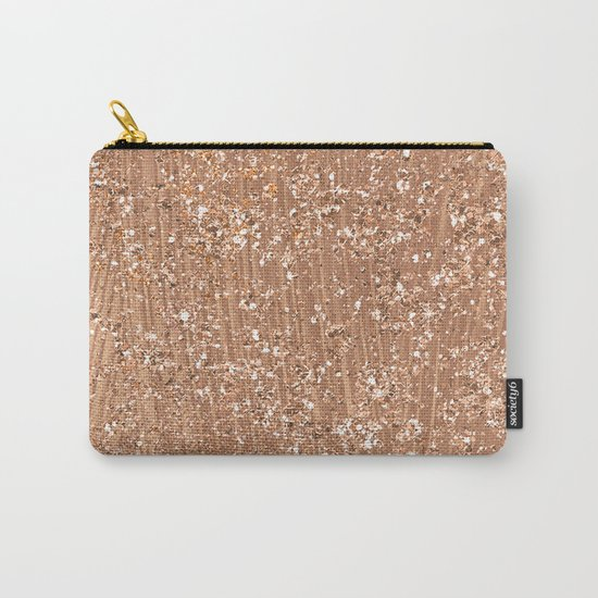 Rose gold brushstrokes and glitter Carry-All Pouch