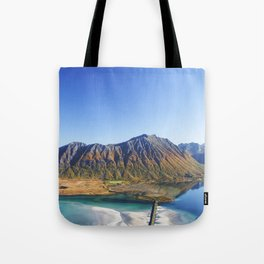 Hiking with a view Tote Bag