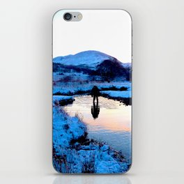 Snowy puddles iPhone Skin