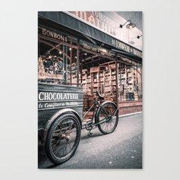 Living room, decoration, gift, Paris, chocolate, art, vintage Canvas Print
