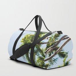 Minimal California Palm Trees Blue Sky Duffle Bag