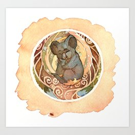 Koala Cuddles Art Print