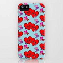 Cute Hearts iPhone Case