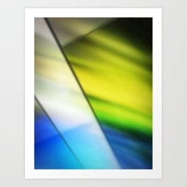 Soft Stained Glass Art Print