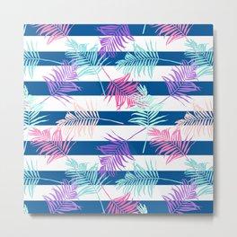 Colorful Tropical Pattern Metal Print