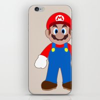 sticker iPhone & iPod Skins featuring Sticker Mario by Rebekhaart