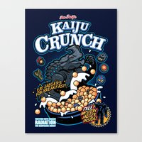 kaiju Canvas Prints featuring Kaiju Crunch by Matt Dearden
