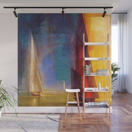 Classical Masterpiece 'Stiller Tag am Meer III' by Lyonel Feininger Wall Mural