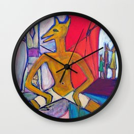 The circus performer Wall Clock