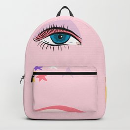 Glam Rock Eyes and Stars - 1980's inspired aesthetic by Design by Cheyney Backpack