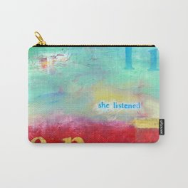 She Listened by Nadia J Art Carry-All Pouch