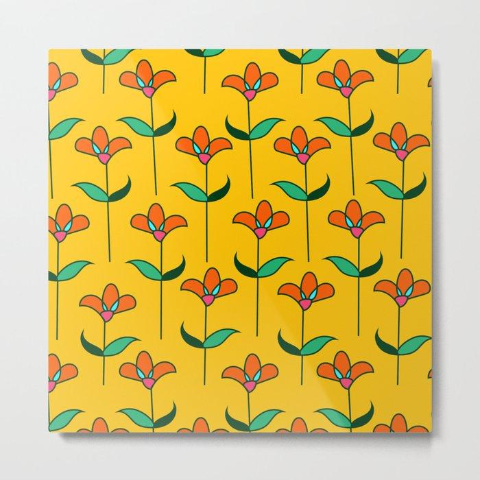 Genevieve - Yellow Metal Print